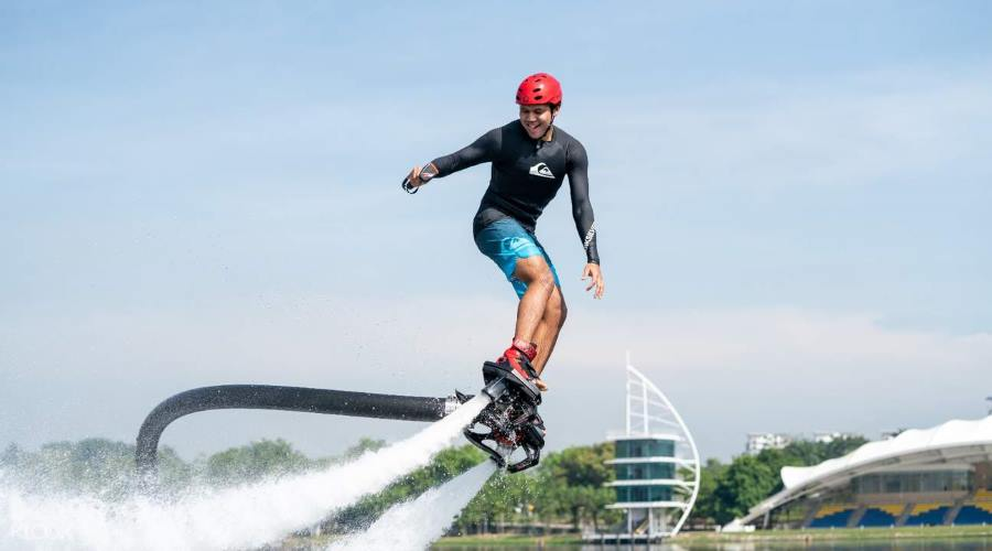 enjoy the flyboard experience with flyboard putrajaya discount ticket