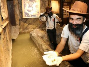 pg gold museum ticket lets you look for gold in the man made river in the museum
