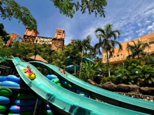 sunway lagoon ticket price discount online - family racing down water slides