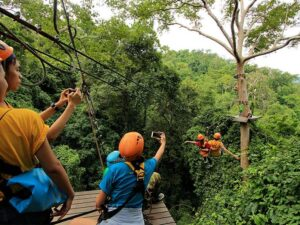 you can enjoy amazing zipline and the jungle of thailand with the flight of the gibbon pattaya