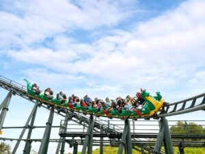 a legoland malaysia ticket lets you enjoy this rollercoaster ride like this one
