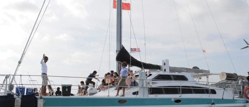 langkawi sunset tour ticket lets you enjoy dinner on a private yacht, sailing on langkawi waters overlooking the andaman sea