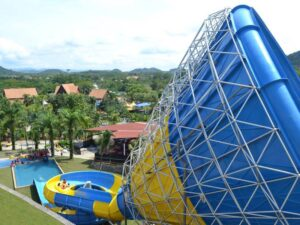 a humongous water slide in the a famosa resort that you can experience with an a famosa resort promo ticket