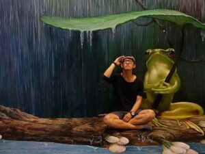 one of the 3d arts that you can pose in the art in paradise museum pattaya