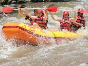 ayung white water rafting in bali indonesia