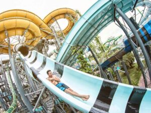with the cartoon network discount ticket you'll be able to wnjoy water slides like this one