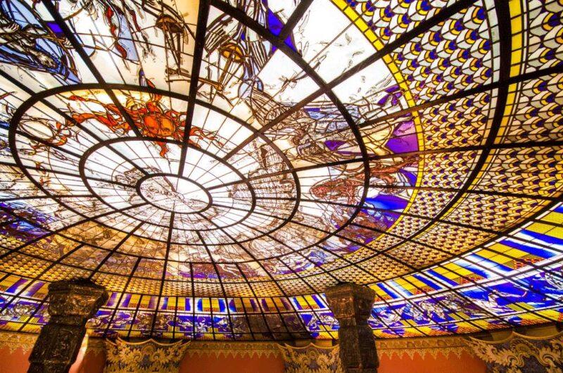 the stunning roof in the erawan museum bangkok
