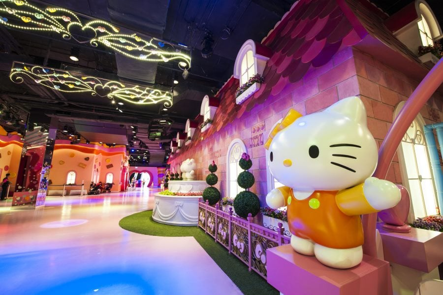 the pink area of hello kitty malaysia