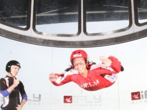 the ifly singapore ticket is cheaper and far safer than sky diving but the thrill is just as similar