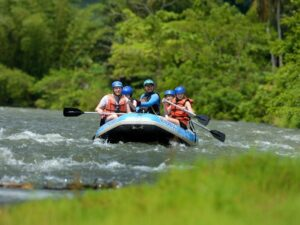 with a kiulu white water rafting tour, you'll get experience the waters of borneo under the hands of trained experts