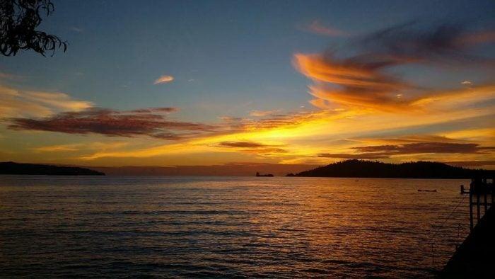 sunset in weston area kota kinabalu sabah