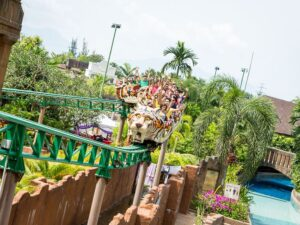 with the lost world of tambun theme park ticket you can get on this roller coaster