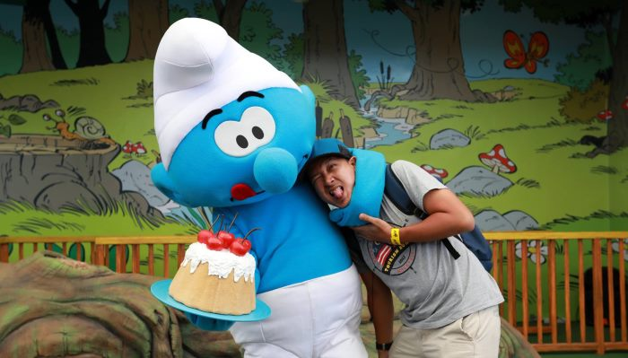 movie and characters like the smurf is one of the highlights of the maps theme park