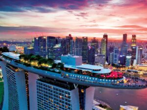 with the marina bay sands observation deck ticket, you'll get to get on top of this majestic building and see more of singapore city
