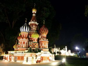 the iconic russian church in the mini siam compound