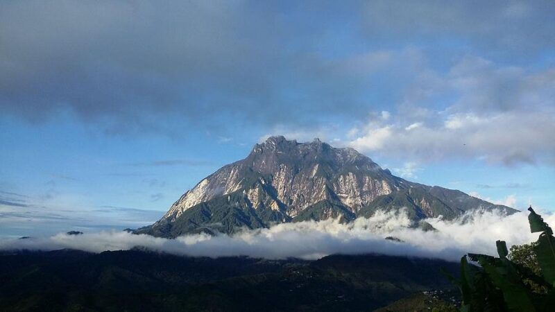 the mount kinabalu in borneo can be hiked or if you don't want to, there's the kinabalu park that you could visit