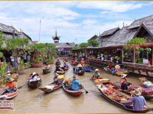 with the pattaya floating market tour ticket you can see how the traditional market in thai operates