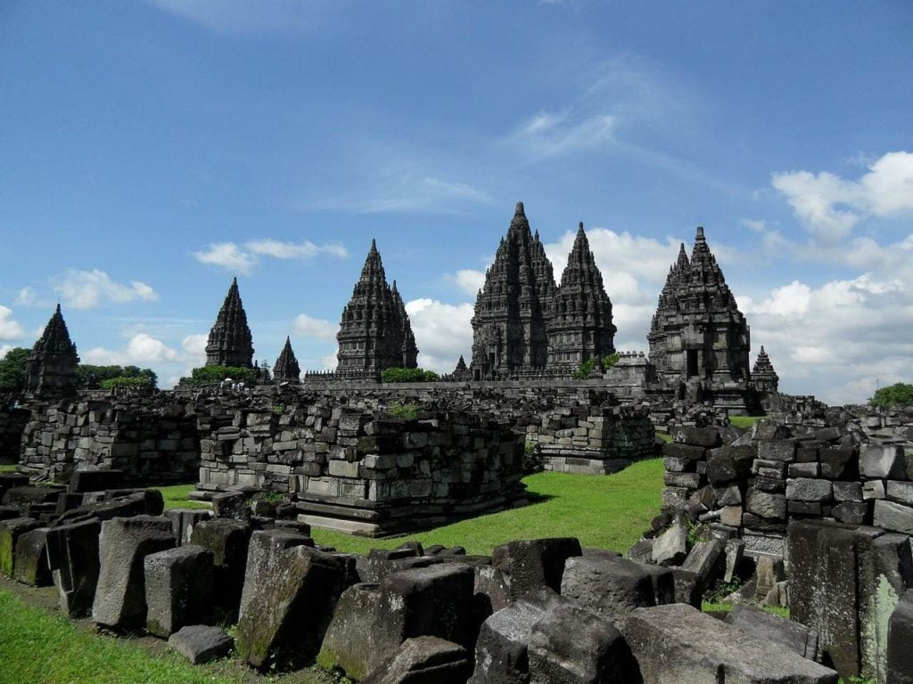 prambanan temple complex during the day