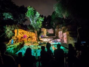 with your rainforest lumina ticket you'll get to the singapore zoo and enjoy a lightshow like no other