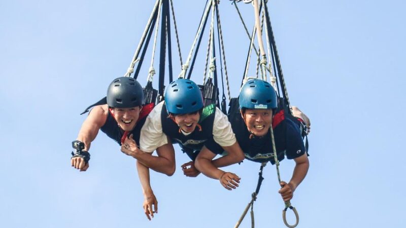 you and your friend can enjoy a crazy adrenaline pumping activity with the aj hackett giant swing discount ticket sentosa