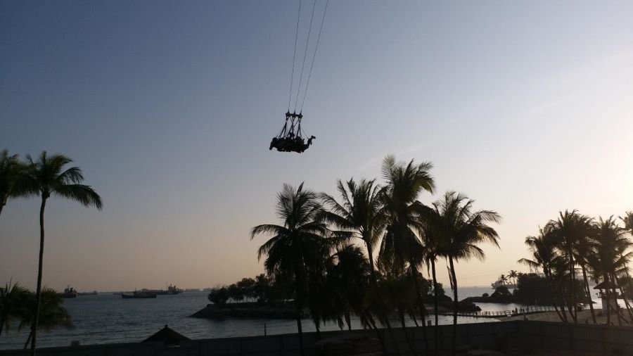 3 person can enjoy this giant swing sentosa at discounted ticket price