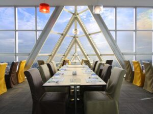 with the baiyoke sky high dining you get to enjoy your meal in a highly luxurious setting