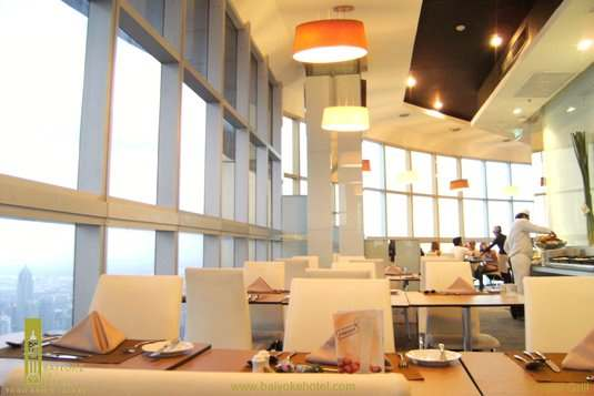 the baiyoke grill dinner at floor 82 is set in a modern comfortable ambience