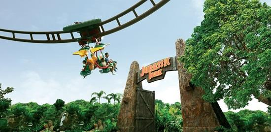 the uss lost world canopy flyer is also a hit among visitors to this theme park