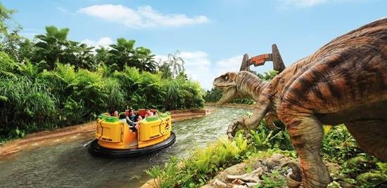 universal studios singapore in the sentosa also has a boat ride like the one in the jurassic area