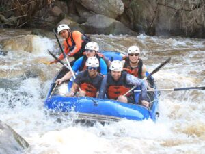 the mae tang in chiang mai is perfect for a white water rafting trip
