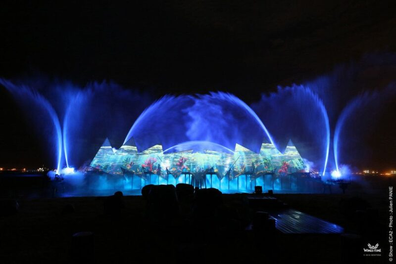 with the wings of time ticket you may see futuristic light and water show by the beach at sentosa