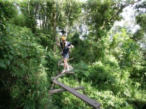 the hanging bridge you can try during your chiang mai zipline trip