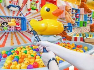 carnival games in the cosmo world theme park