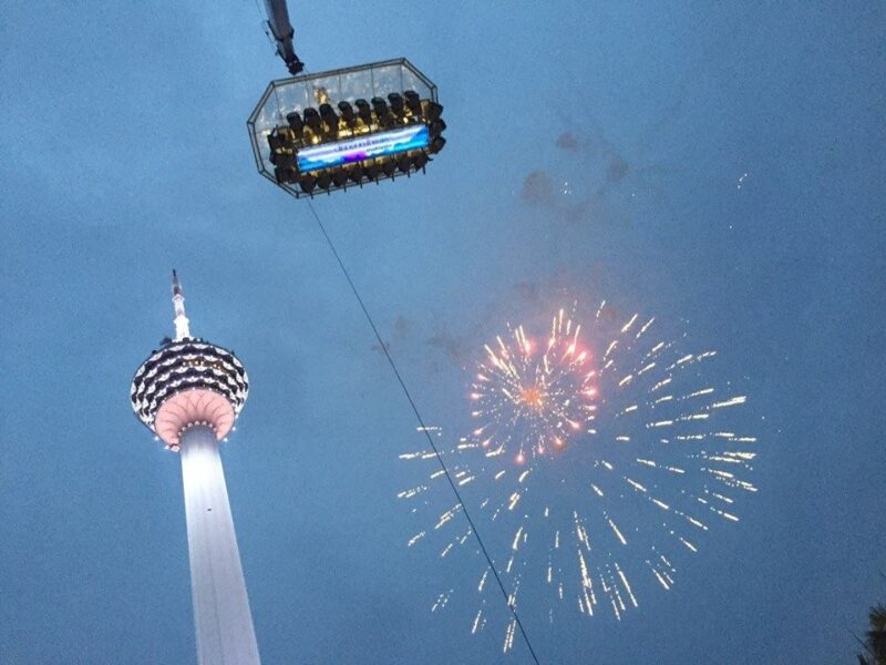 dinner in the sky kuala lumpur during new years eve