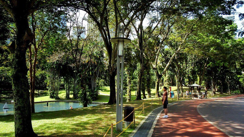 A jogger at the KLCC Park