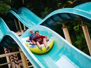one of many water park slide in sunway lagoon kuala lumpur
