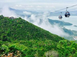 langkawi cable car with ocean view
