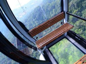 bottom glass skycab - view from the langkawi skycab with a 4 in 1 ticket