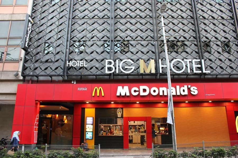 big m hotel  is just above the mcdonalds in jalan masjid jamek area
