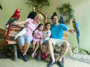 Family at KL Bird Park. Get your ticket + One Way Transfer